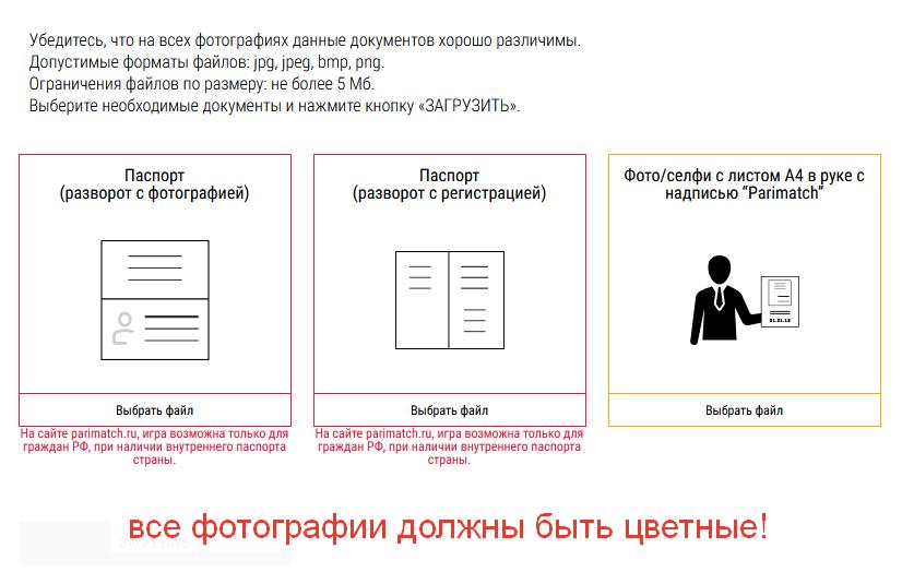 документы верификации париматч
