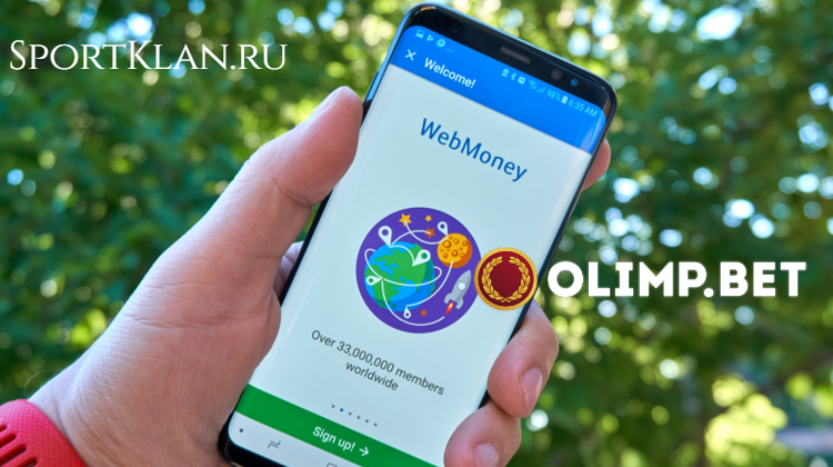 БК Олимп ввела Webmoney