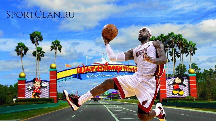 Баскетбольная сказка: НБА проведут в Диснейленде