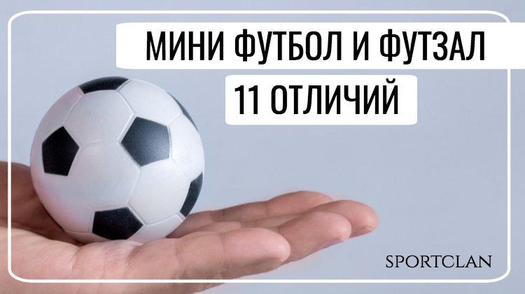 Различия мини футбола и футзала. Чем отличаются виды спорта?