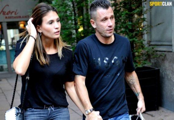 Антонио Кассано и жена