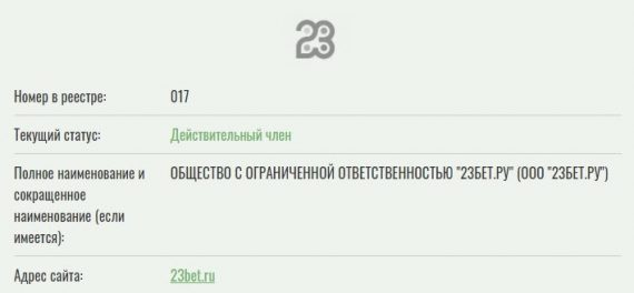 БК 23Бет.ру реестр СРО