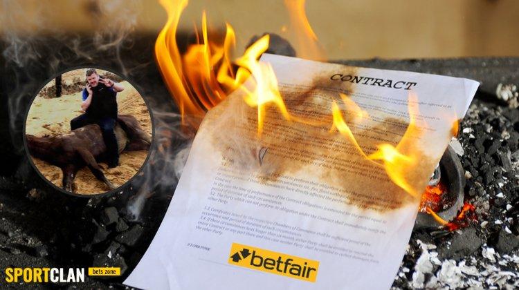 Betfair прекратил сотрудничество с амбассадором, сделавшим фото с мёртвой лошадью
