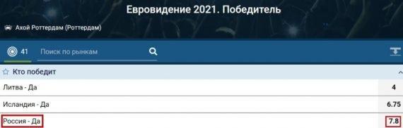 Россия победитель евровидение 1хбет