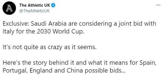 Саудовская Аравия ЧМ по футболу 2030