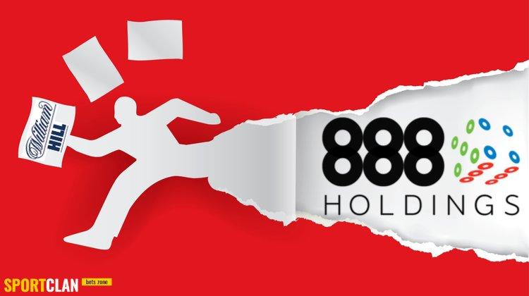 888 Holdings спешит опередить конкурента в гонке за европейские активы William Hill