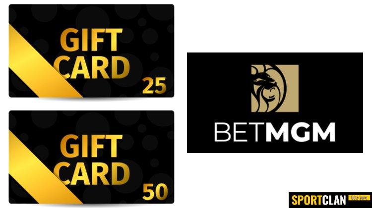 БК BetMGM начала продавать подарочные карты номиналом $25 и $50