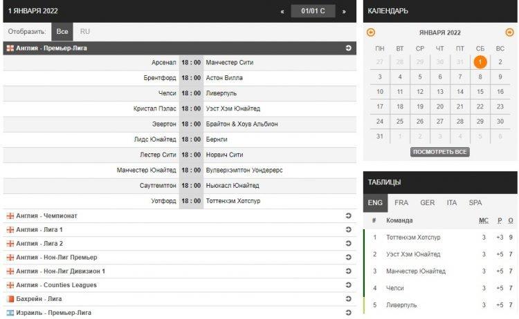 soccerway ru как искать футбольные матчи