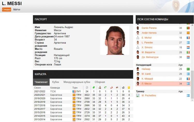 soccerway обзор футбольной статистики