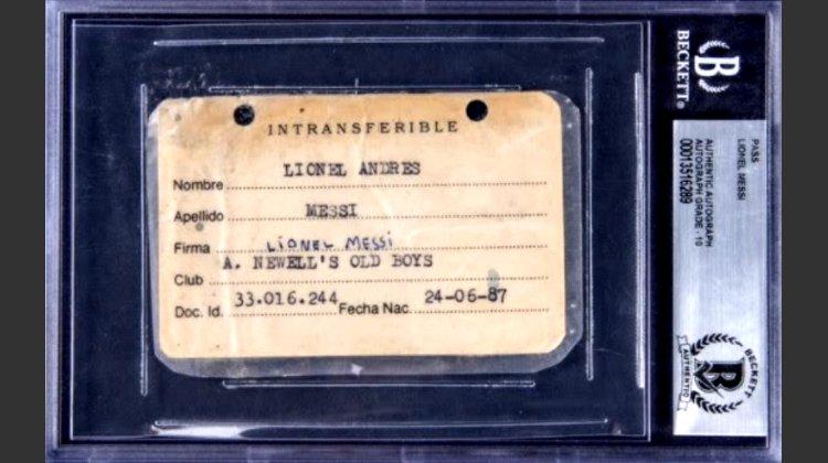 """Документ с подписью Месси времён """"Ньюэллс Олд Бойз"""" выставлен на аукцион"""